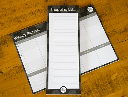 Planner and Shopping list combo