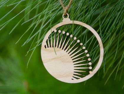 Pohutukawa Wooden Christmas Tree Decoration