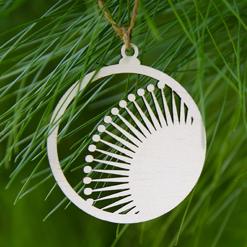 Pohutukawa Wooden Christmas Tree Decoration