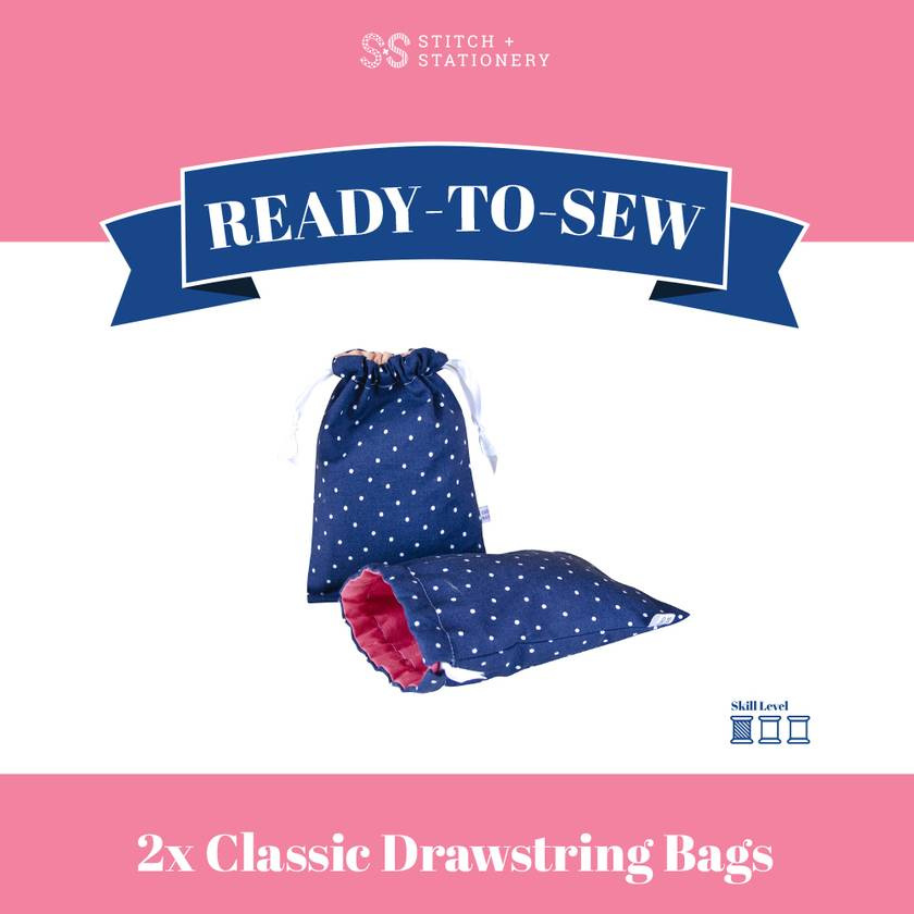 Ready-To-Sew Kit (Classic Drawstring Bags)