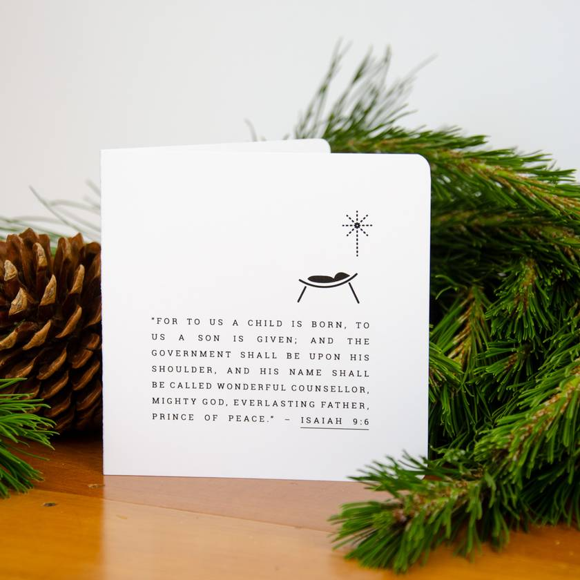 Christmas Card -  Isaiah 9:6