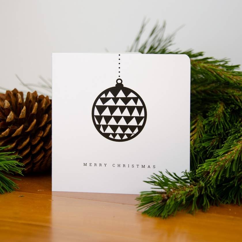 Christmas Card -  Geometric Bauble