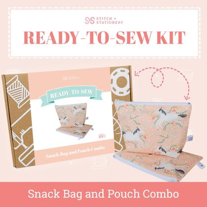 Ready-To-Sew Kit (Snack Bag/Pouch Combo)