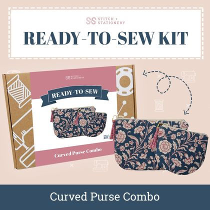 Ready-To-Sew Kit (Curved Zipped Purses)
