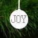 'Joy' Wooden Christmas Tree Decoration