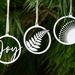 Wooden Christmas Tree Decorations (Choose Any 3)