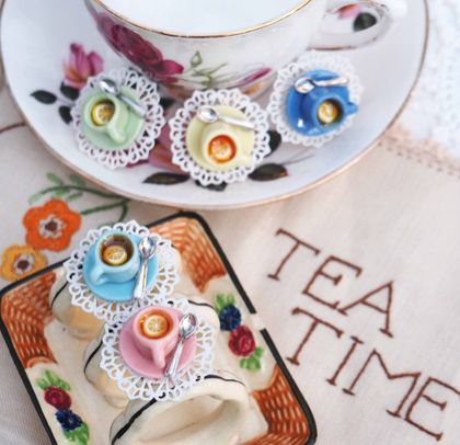 Teatime Tea Cup Brooches