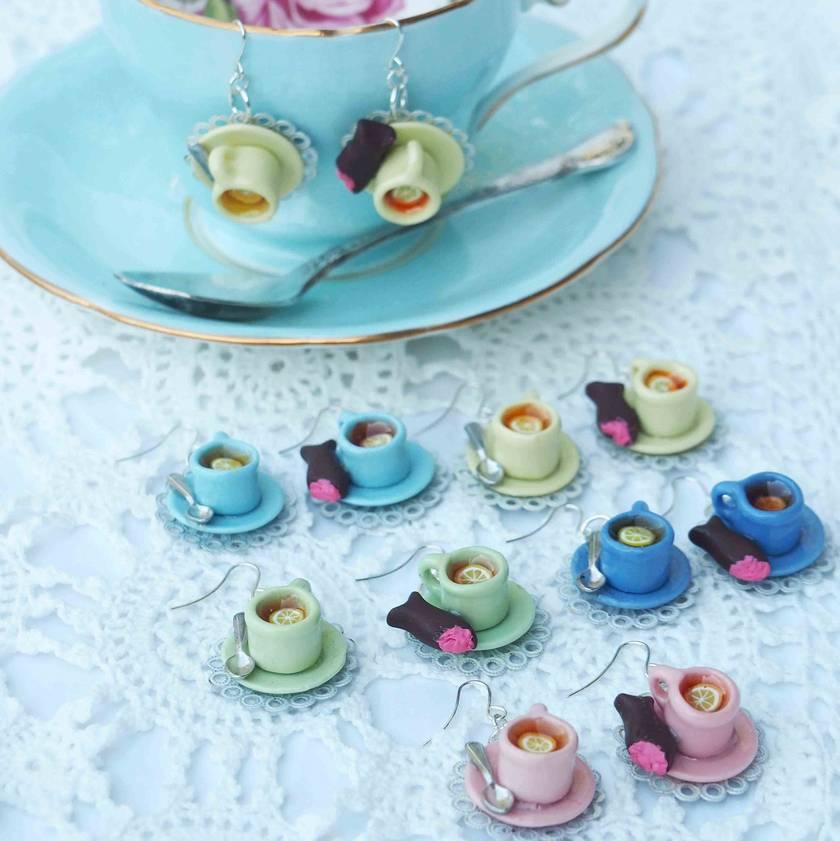 Teatime Teacup Hook Earrings