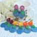 Chrysanthemum Vase Earrings