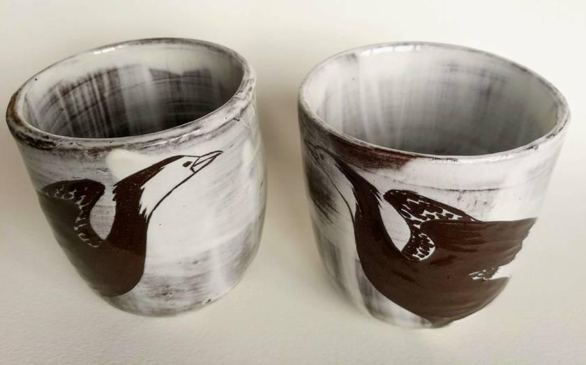 Pair of Shag tea cups