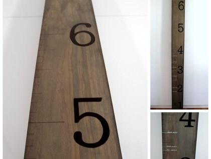 Wooden Ruler Growth Chart Felt