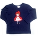 'Little Red'  - Merino tee - Size two