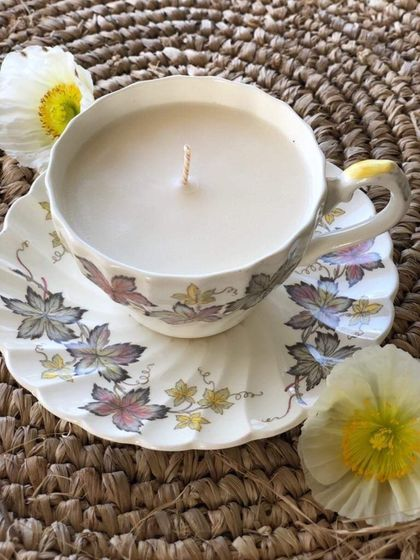 Vintage Teacup Soy Candle