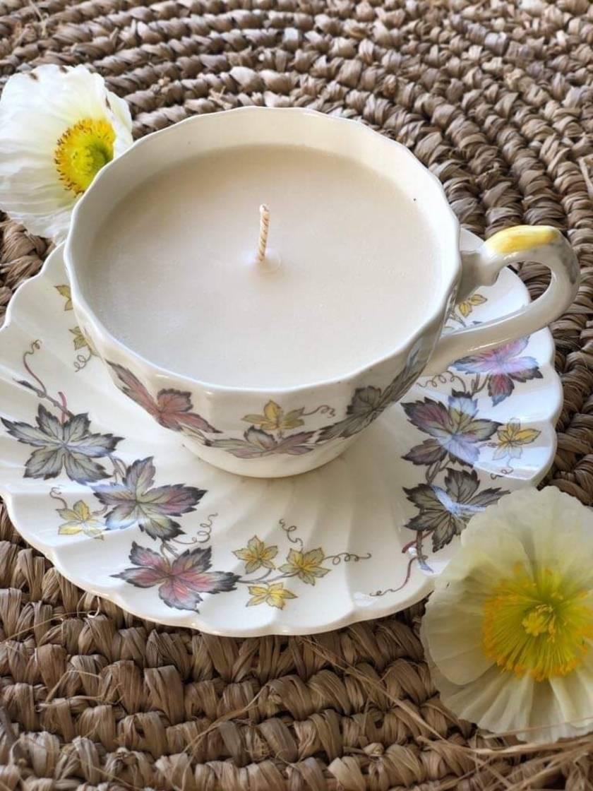 Vintage Teacup Soy Candle