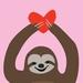 The Love Sloth. A4 PRINT