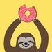 Strawberry Donut Sloth. A4 PRINT