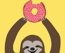 Strawberry Donut Sloth Gift Card