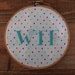 'WTF' Hand Embroidery