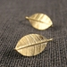 Leaf Drop Earrings In Gold