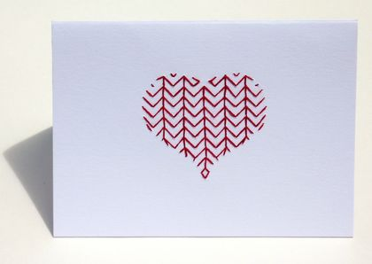 art Card *Chevron Heart