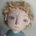 Handmade cloth and paperclay art doll
