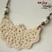 Cream Lace Fan Pendant Necklace
