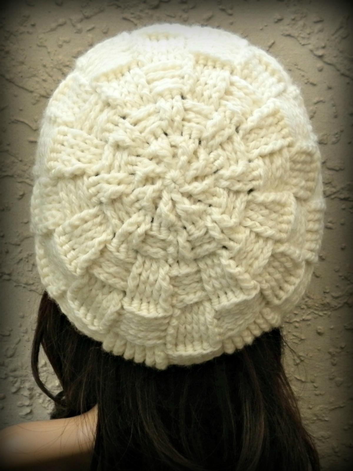 Crochet Womens Basketweave Slouchy Beret Pattern PDF Felt