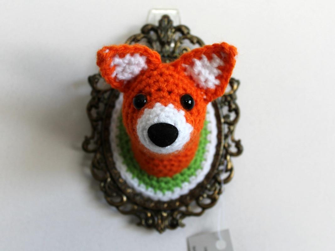 Little Fox Amigurumi : Little Fox Amigurumi Wall Animal Felt