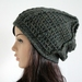Chunky Oversized Beanie - Green Mix
