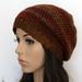 Crochet Baggy Beanie - Rust