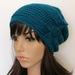 100% Wool Woven Gather Slouch Beanie