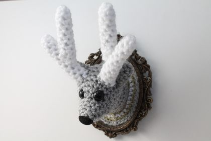 Mini Faux Taxidermy Reindeer
