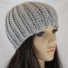 Soft Chunky Ribbed Wool & Alpaca Blend Crochet Beanie in Grey