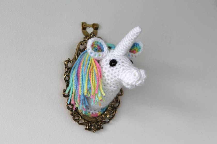 Rainbow Unicorn Fauxidermy Wall Art - Mini