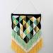 Crochet  Summer Diamonds Wall Hanging