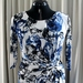 Scribble Blooms Stretch Knit Dress Size 14