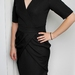 Black Spot Ponte Knit Dress Size 8