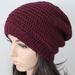 100% Wool Crochet Unisex Oversized Beanie - PURPLE