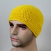 100% Wool Crochet Unisex Beanie - Yellow