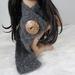 100% Alpaca Lace Crochet Coconut Button Scarf