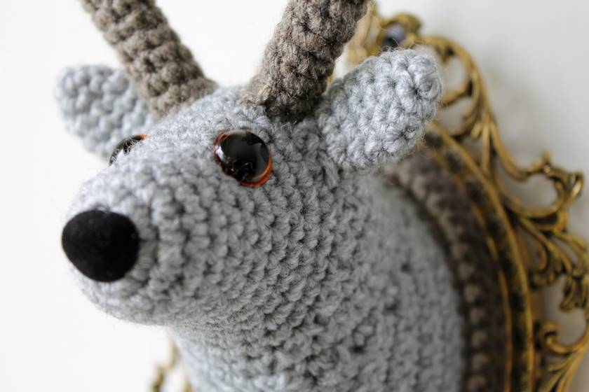 Fauxidermy Reindeer -  Grey and Fawn - Small