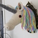 Rainbow Unicorn Fauxidermy Wall Art - Large