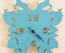 sky blue cuckoo clock