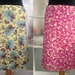 Reversible snap wrap cotton travel skirt in Butter and Raspberry - Small 8-10-12
