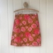 Pink rose cotton skirt M+R size small