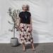 Geisha midi snap wrap skirt size 14-18