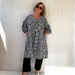 Maddie dress B&W one size