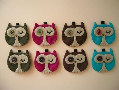 OWL KEYRING - Felt