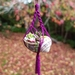 Snail shell macrame hanging with polymer clay succulents