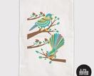 Tui & Fantail *Tea Towel